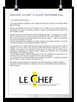 MAGAZINE LE CHEF, N°143 AOÛT-SEPTEMBRE 2002.