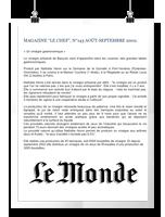 LE MONDE LUNDI 28/DIMANCHE 29 DÉCEMBRE 2003