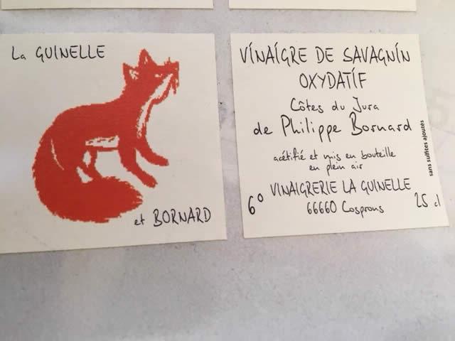 Vinaigre de la Guinelle et Philippe Bornard
